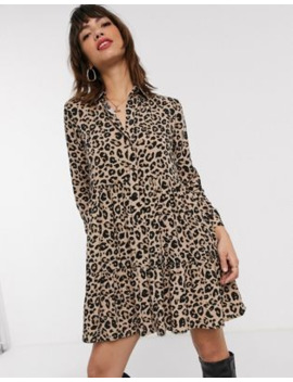 Stradivarius Shirt Dress In Animal Print by Stradivarius'