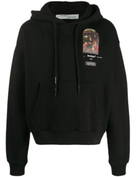 Small Virgin Marie Printed Hoodie by Off White