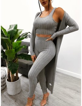Haisley 3 Piece (Grey) by Laura's Boutique