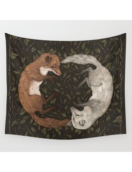 Foxes Wall Tapestry by Society6