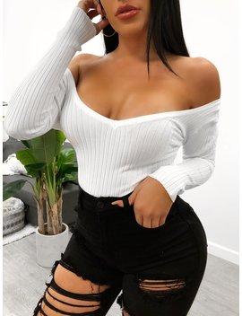 Gracelyn Bodysuit (White) by Laura's Boutique