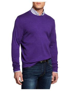 Men's Cashmere/Silk Crewneck Sweater by Neiman Marcus