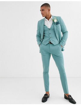 Asos Design Super Skinny Suit In Sea Green by Asos