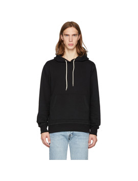Ssense Exclusive Black Cotton Hoodie by Naked & Famous Denim