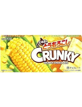 Lotte Crunky Crunch Chocolate Corn Flavor Japanese Candy Dagashi Snack Japan by Lotte