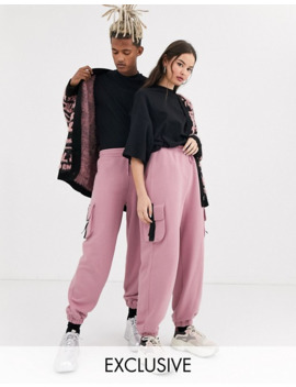 Collusion Unisex Sweatpants In Blush by Collusion