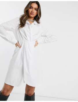 Public Desire Structured Shirt Dress In Cotton by Public Desire