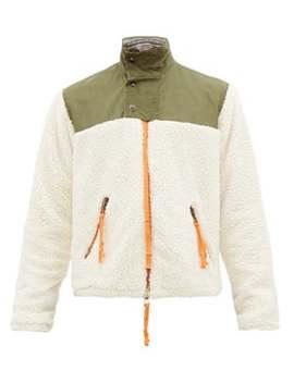 Sherpa Fleece Zip Up Jacket by Greg Lauren