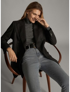 High Waist Skinny Jeans by Massimo Dutti
