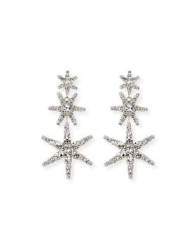 Aurelia Crystal Star Earrings by Jennifer Behr