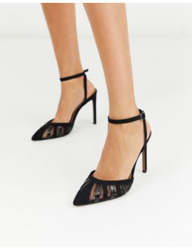 Asos Design Perfection Cut Out Stiletto Heels In Black by Asos Design