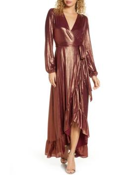 Meryl Long Sleeve Wrap Maxi Dress by Wayf