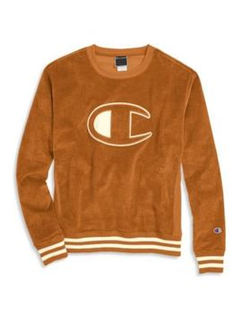 Champion Life® Men's Corduroy Crew, C Logo by Champion