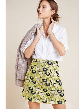 Loren Embroidered Mini Skirt by Hutch