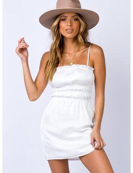 Carson Mini Dress White by Princess Polly