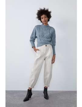 Pantaloni Slouchy Con Pince by Zara