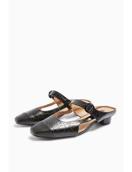 April Black Toe Cap Shoes by Topshop