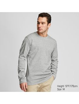 Men Soft Touch Crew Neck Long Sleeved T Shirt (15) by Uniqlo
