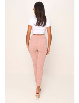 Rose Check Skinny Trousers by I Saw It First