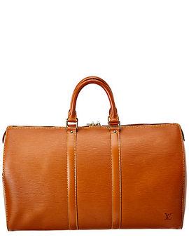Louis Vuitton Brown Epi Leather Keepall 45 by Louis Vuitton