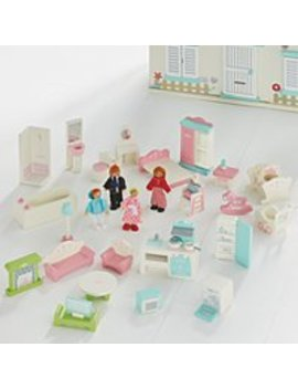 Large Wooden Dolls House Furniture Set by Asda