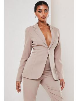 Tall Mauve Co Ord Skinny Classic Blazer by Missguided