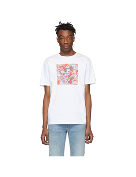 White Lotus Grid T Shirt by Saturdays Nyc