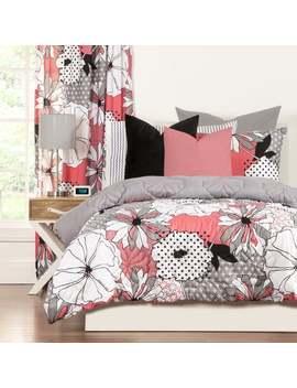 Crayola Flower Patch 3 Piece Comforter Set   White/Multi   Queen/Full   Queen/Full   3 Piece by Crayola