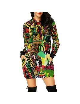 Rasta / Mini Dress Hoodie / Women Extra Long Hoodie / Hoodies / Hoodies For Women / Women's Hoodies by Etsy