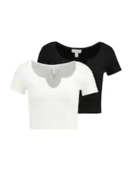 2 Pack Notch Tee   Printtipaita by Topshop Petite
