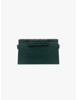 Green Lizard Effect Leather Trunk Bag by Hunting Season