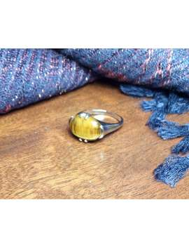 Bohemian Boho Silver Plated Natural Golden Brown Gemstone Tigers Eye Ring, Uk Size P/Q, Us Size 7.5/8, Women's, Jewellery, Gift, Gothic by Etsy