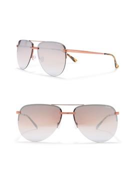 The Playa 64mm Aviator Sunglasses by Quay Australia