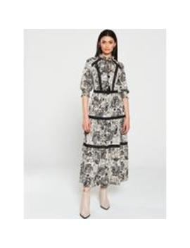 Paisley And Ladder Trim Midi Dress   Paisley Print by V By Very