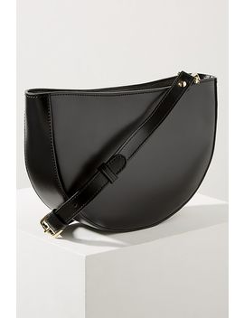 Clara Half Moon Crossbody Leather Bag by Anthropologie