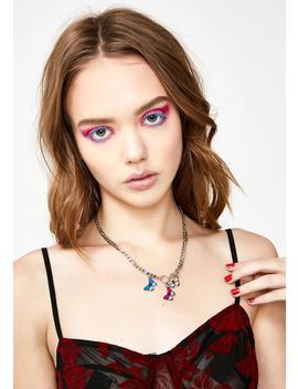 Multi Monarch Chain Necklace by Dolls Kill