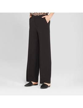 Women's Wide Leg Bi Stretch Twill Pants   A New Day™ by A New Day