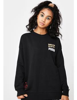 X Hello Kitty Graphic Crewneck Sweatshirt by Puma