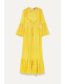 Tessa Ruffled Floral Jacquard Maxi Dress by Preen By Thornton Bregazzi