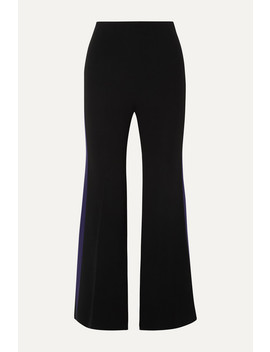 Madison Striped Crepe Flared Pants by Roland Mouret
