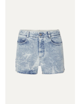 + Net Sustain Embroidered Distressed Denim Shorts by Stella Mc Cartney