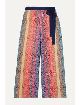 Rego Glittered Jacquard Knit Wide Leg Pants by Mary Katrantzou