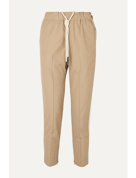 + Net Sustain Cropped Herringbone Trimmed Cotton Pants by Bassike