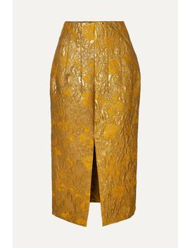 Metallic Brocade Midi Skirt by Brock Collection