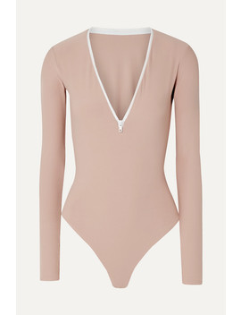Spruce Stretch Jersey Thong Bodysuit by Alix Nyc