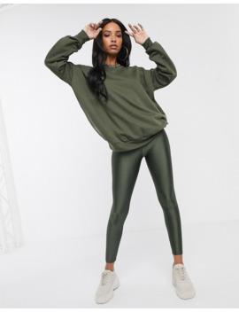 Asos Design – Kombiteil – Übergroßes Sweatshirt In Khaki by Asos
