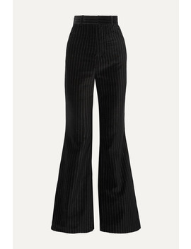 Pinstriped Cotton Velvet Flared Pants by Situationist