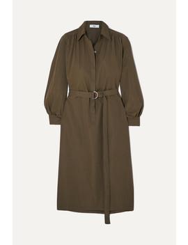 Loulou Twill Midi Dress by Frankie Shop