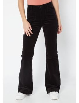 Ymi Black Corduroy Flare Pants by Rue21