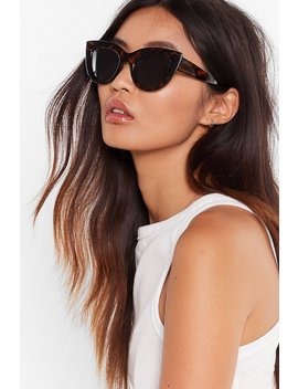 Hold That Tort Cat Eye Sunglasses by Nasty Gal